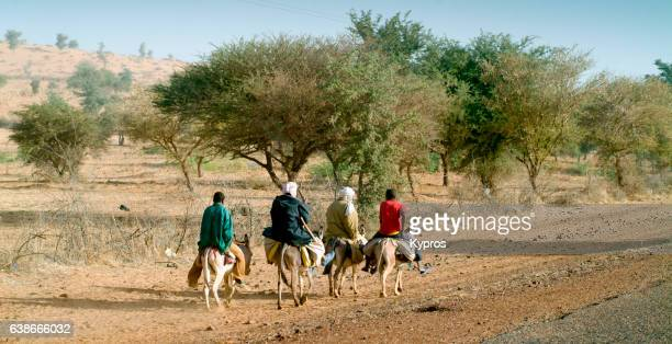 Africa, North Africa, Niger, View Of Muslim Women Riding Donkeys (Year 2007)
