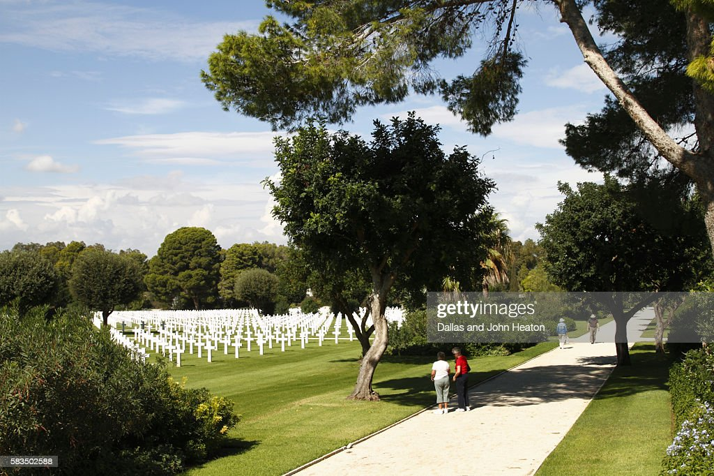 Africa, North Africa, Tunisia, Tunis, Carthage, The North African American War Cemetery : Stock Photo