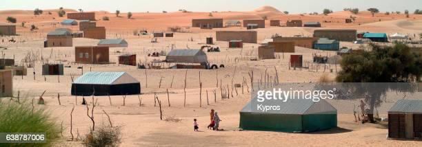 Africa, Sahara Desert, North Africa, Mauritania, View Of Desert Homes (Year 2007)