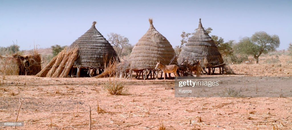 Africa, Sahara Desert, North Africa, Niger, View Of Village Homes (Year 2007) : Stock Photo