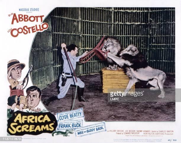 Africa Screams US lobbycard Clyde Beatty 1949