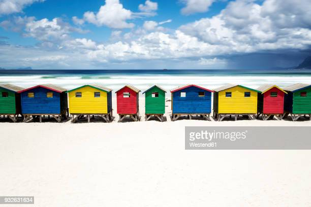 africa, south africa, western cape, false bay, muizenberg beach - southern africa stock pictures, royalty-free photos & images