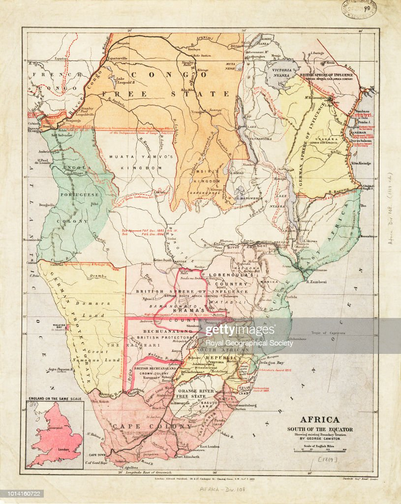 Map Of Africa With Equator.Africa South Of The Equator Showing Existing Boundary Treaties
