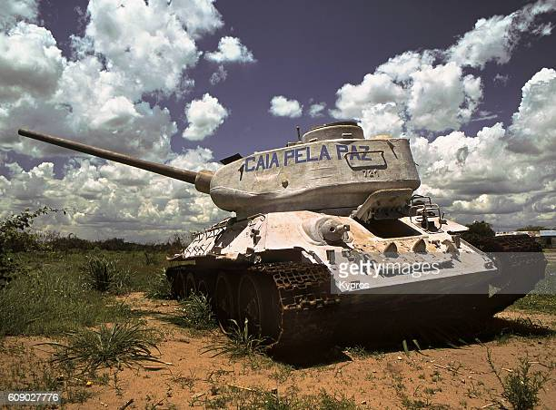 Africa, Southern Africa, Mozambique, View Of Abandoned Tank (Year 2000)