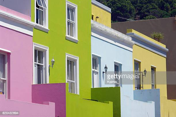 Africa, Southern Africa, South Africa, Cape Town, Bo-Kaap District Six, Cityscape View Of Malay Houses