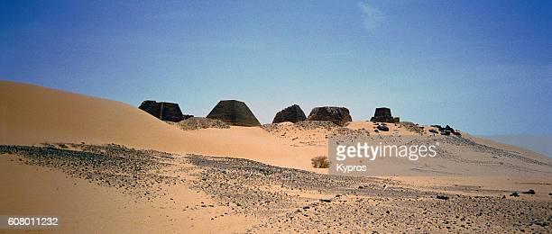 Africa, Sudan, North Sudan, Sahara Desert, View Of Meroe Pyramids (Year 2000)