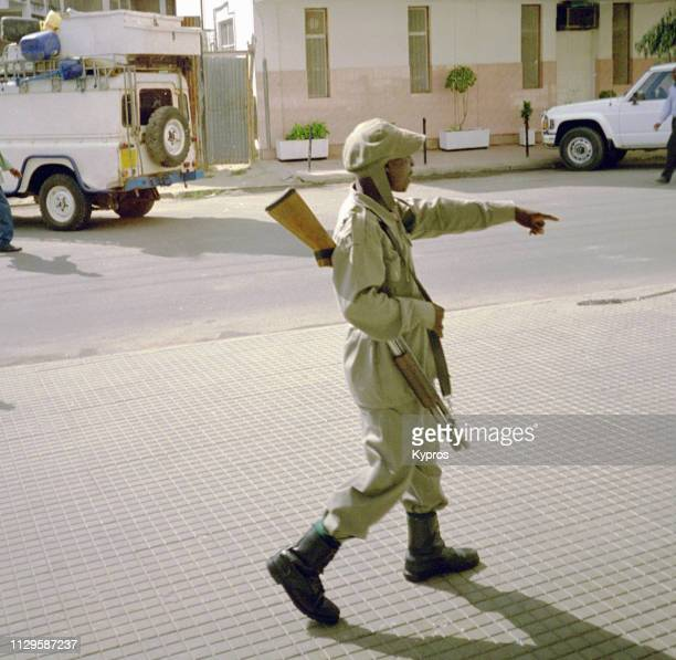 Africa, Tanzania, 2000: View Of African Security Guard