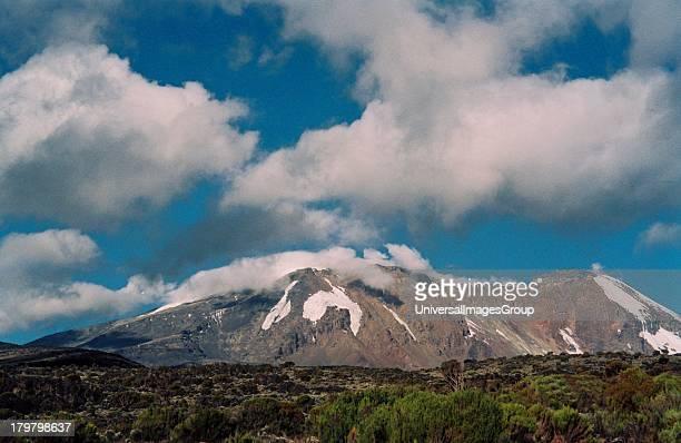 Africa Tanzania Safari Mount Kilimanjaro from the Shira Plateau