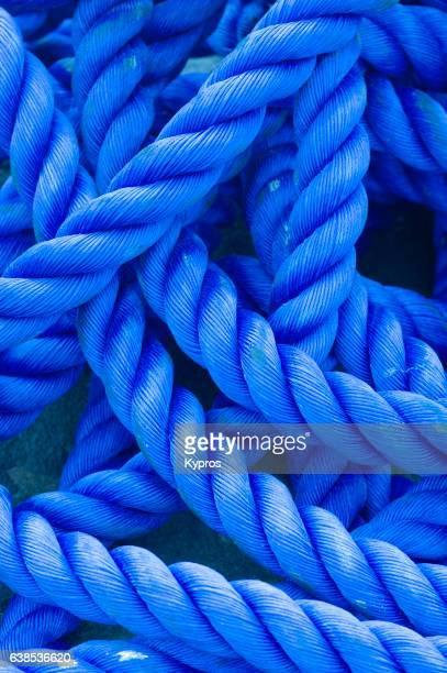 Africa, Tanzania, View Of Blue Nylon Rope (Year 2009)