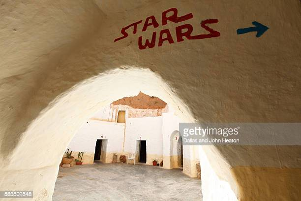 africa, tunisia, matmata, troglodyte building, sidi driss hotel, star wars movie shooting location - star wars stock pictures, royalty-free photos & images