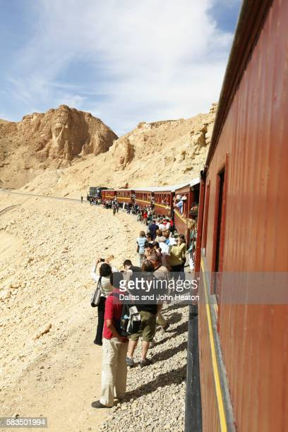 Africa, Tunisia, Metlaoui, Red Lizard, ( Lezard Rouge ) Train, Sightseers