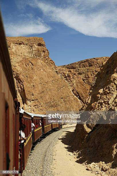 Africa, Tunisia, Metlaoui, Selja Gorge, Red Lizard ( Lezard Rouge ) Train