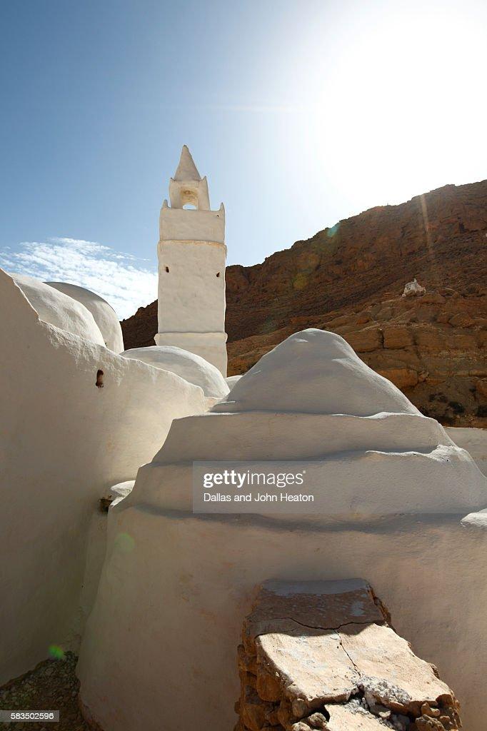 Africa, Tunisia, Sahara Desert, Chenini, Seven Sleepers Mosque : Stock Photo
