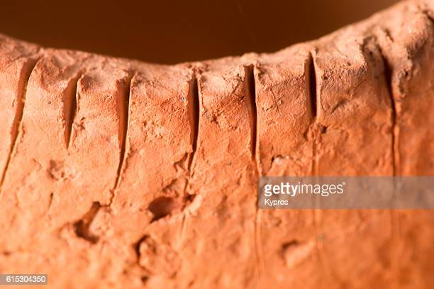 africa, view of hand-made clay pot (year 2000) - vaso de barro imagens e fotografias de stock