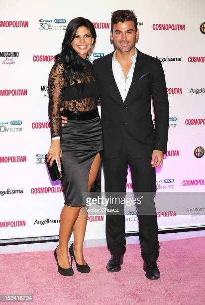 Africa Zavala and Mauricio Mejía attend the Cosmopolitan magazines 40th anniversary celebration at the Westin Hotel on October 4 2012 in Mexico City...