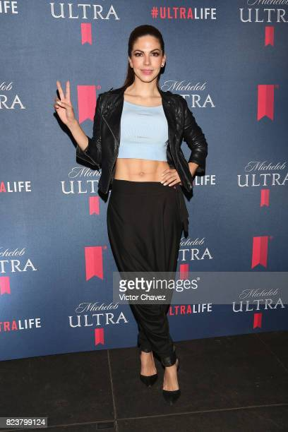 Africa Zavala attends the launch of beer fitness Michelob Ultra at Reebok CrossFit on July 27 2017 in Mexico City Mexico