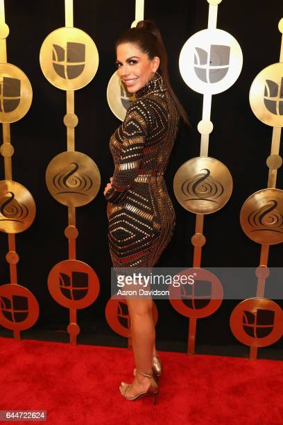 Africa Zavala attends Univision's 29th Edition of Premio Lo Nuestro A La Musica Latina at the American Airlines Arena on February 23 2017 in Miami...