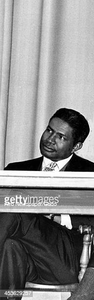 African American actor Ossie Davis at Howard University November 20 1962
