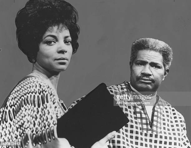 African American actor Ossie Davis with his wife Ruby Dee at an appearance for Black History Month Maryland February 20 1980