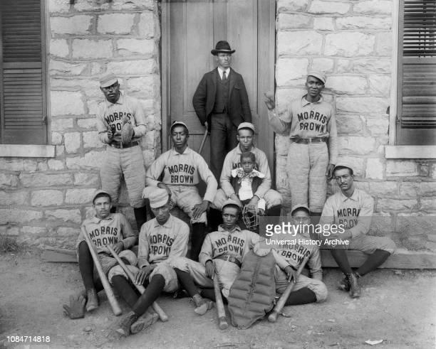 African American Baseball Players, Morris Brown College, Atlanta, Georgia, USA, WEB DuBois Collection, 1900.