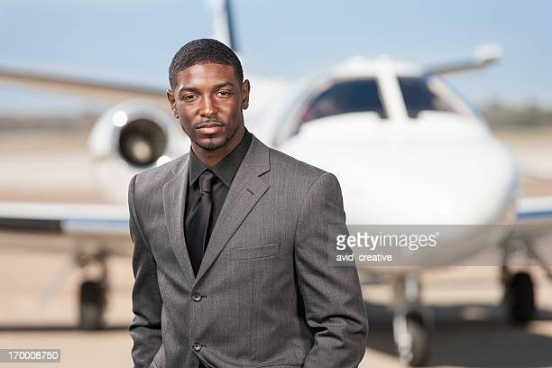 African American Businessman at Airport