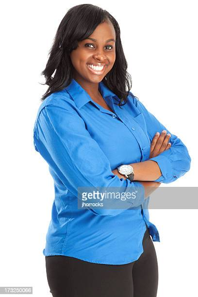 African American Businesswoman in Blue