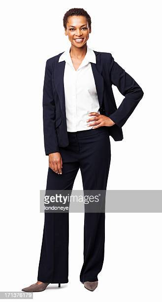 African American Businesswoman Standing With Hand On Hip - Isola