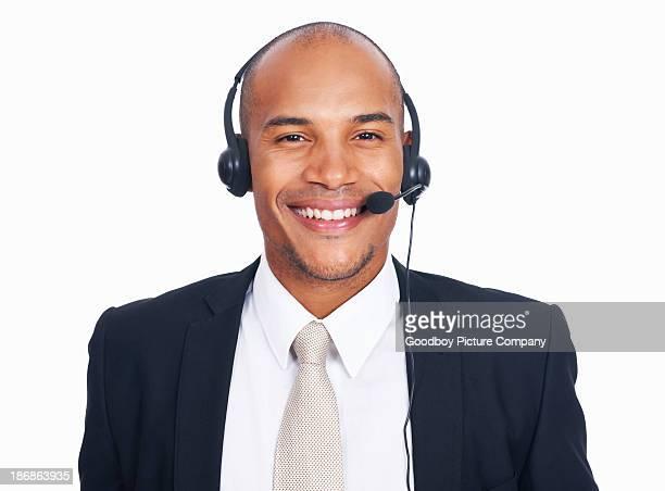 African American call center employee