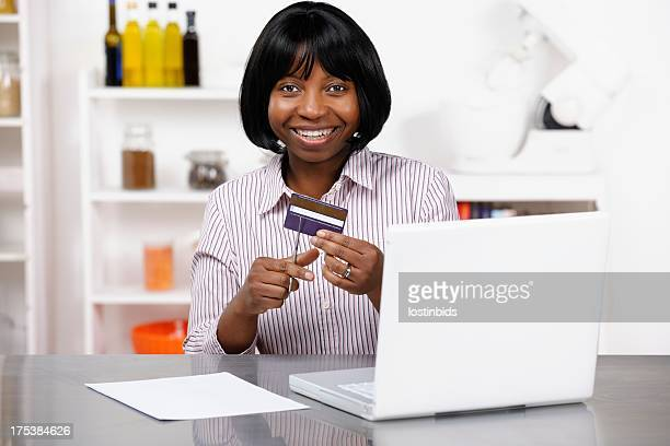 African American Celebrating Her Freedom From Debt