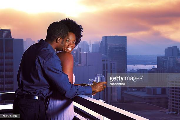 African American Couple in the City
