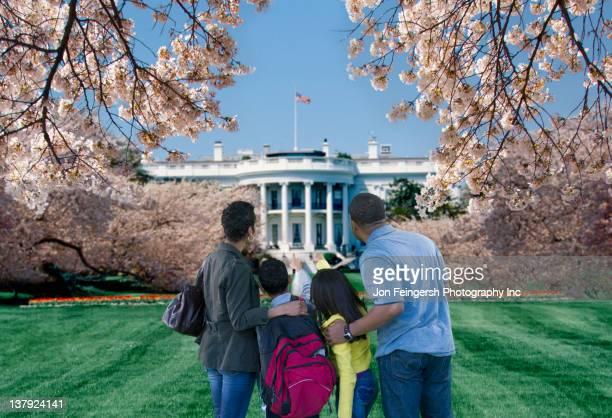 African American couple sightseeing at the White House