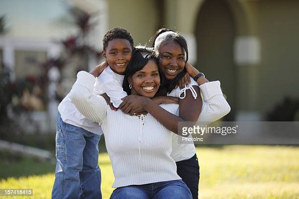 african american family portrait - petite teen girl stock photos and pictures