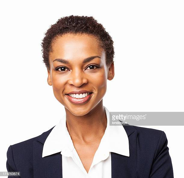 African American Female Executive Smiling - Isolated