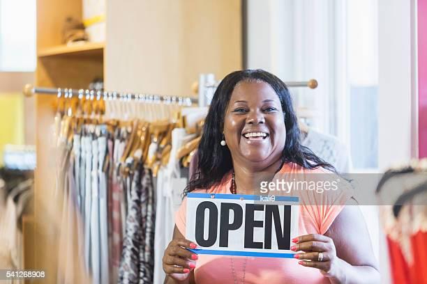 Afroamerikanerin Kleinunternehmen Eigentümer