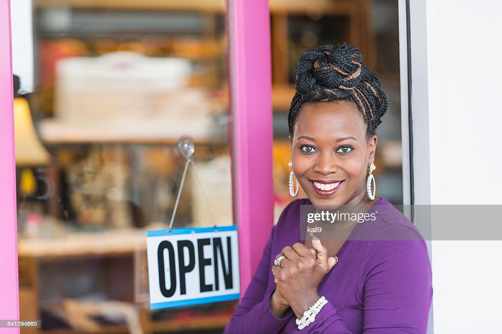African American female small business owner : Stock Photo