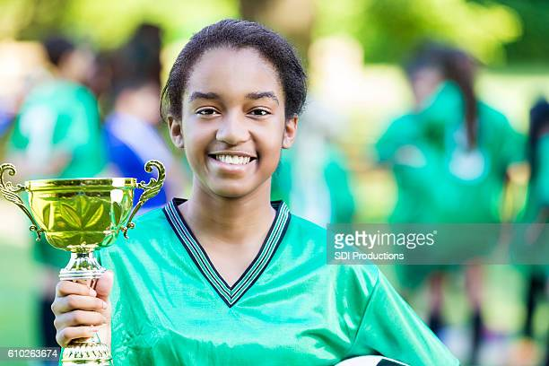 African American female soccer champion