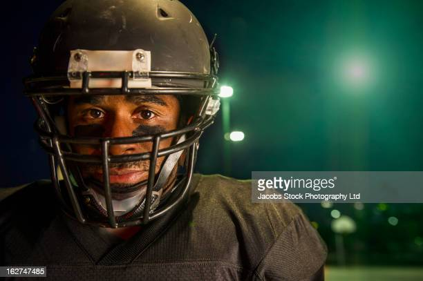 african american football player - safety american football player stock pictures, royalty-free photos & images
