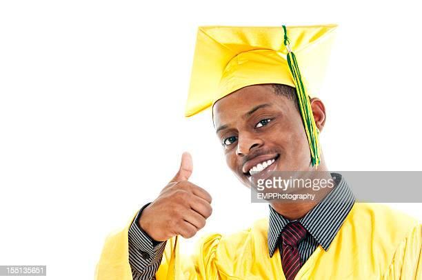 americano graduação isolado a branco