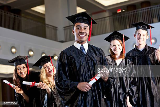 African American graduate with class