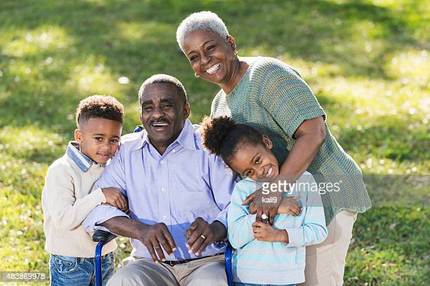 African American grandparents with grandchildren