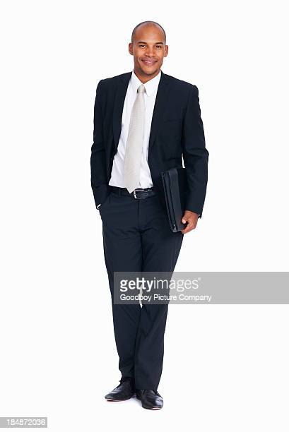 African American male executive with folder