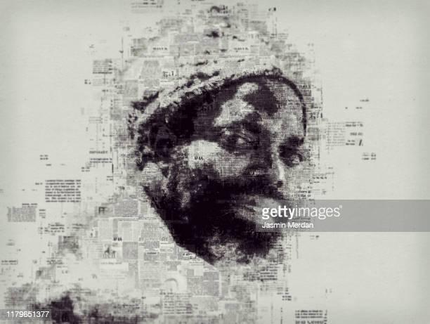 african american man creative portrait - fine art portrait stock pictures, royalty-free photos & images