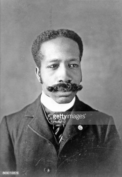 African American man headandshoulders portrait facing Types of American Negroes compiled and prepared by WEB Du Bois