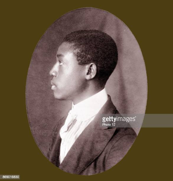 African American man headandshoulders portrait left profile Types of American Negroes compiled and prepared by WEB Du Bois