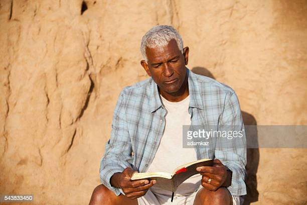 African American Man Reading Bible