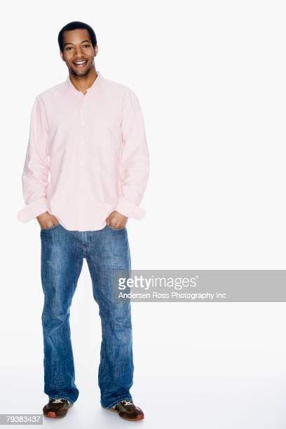 African American man with hands in pocket