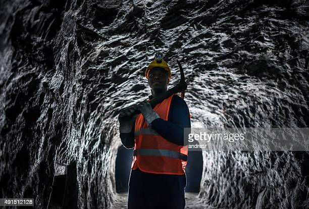 African American man working at a mine