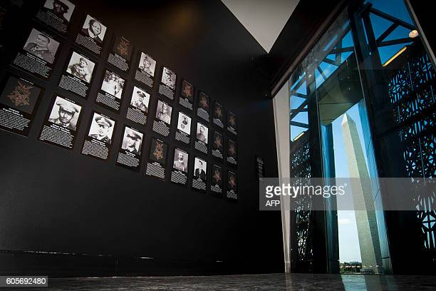 African American Medal of Honor recipients are on display during a press preview at the Smithsonian's National Museum of African American History and...