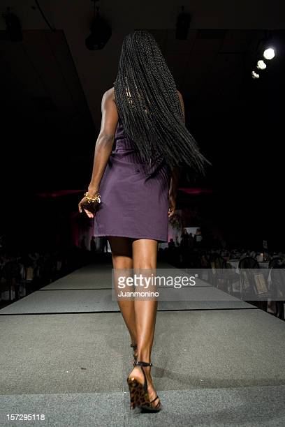 African american model from behind