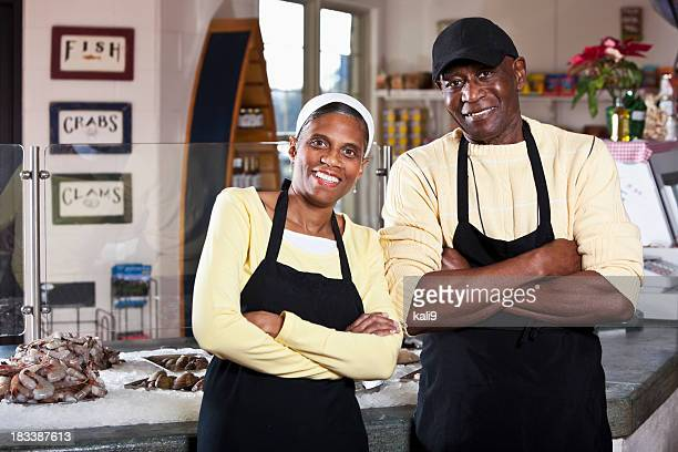 African American owners of fish market